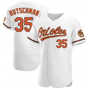 Men's Baltimore Orioles Adley Rutschman Authentic White Home Jersey