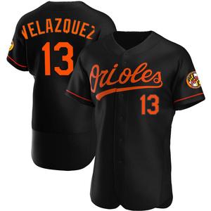 Men's Baltimore Orioles Andrew Velazquez Authentic Black Alternate Jersey