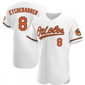 Men's Baltimore Orioles Andy Etchebarren Authentic White Home Jersey