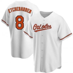 Men's Baltimore Orioles Andy Etchebarren Replica White Home Jersey