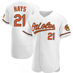 Men's Baltimore Orioles Austin Hays Authentic White Home Jersey