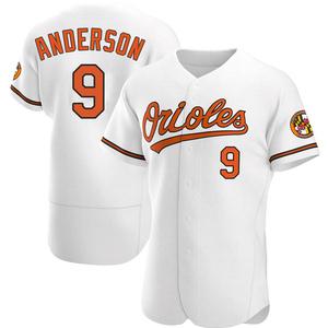 Men's Baltimore Orioles Brady Anderson Authentic White Home Jersey
