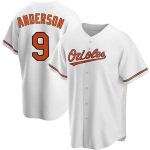 Men's Baltimore Orioles Brady Anderson Replica White Home Jersey