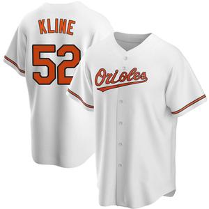 Men's Baltimore Orioles Branden Kline Replica White Home Jersey