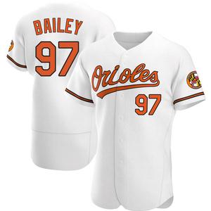 Men's Baltimore Orioles Brandon Bailey Authentic White Home Jersey