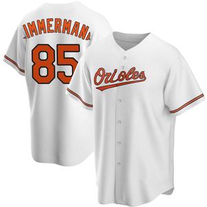 Men's Baltimore Orioles Bruce Zimmermann Replica White Home Jersey