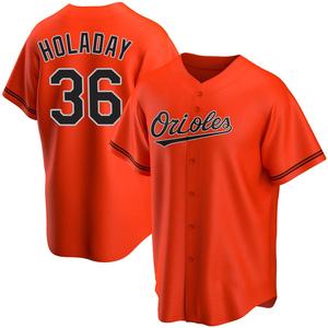 Men's Baltimore Orioles Bryan Holaday Replica Orange Alternate Jersey