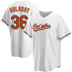 Men's Baltimore Orioles Bryan Holaday Replica White Home Jersey