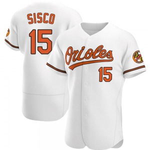 Men's Baltimore Orioles Chance Sisco Authentic White Home Jersey