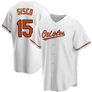 Men's Baltimore Orioles Chance Sisco Replica White Home Jersey