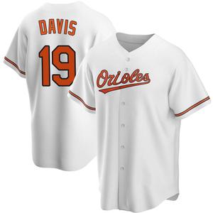 Men's Baltimore Orioles Chris Davis Replica White Home Jersey