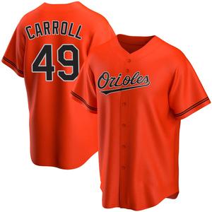 Men's Baltimore Orioles Cody Carroll Replica Orange Alternate Jersey
