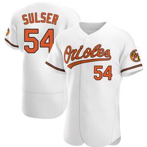 Men's Baltimore Orioles Cole Sulser Authentic White Home Jersey