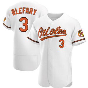 Men's Baltimore Orioles Curt Blefary Authentic White Home Jersey