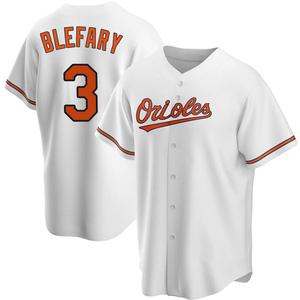 Men's Baltimore Orioles Curt Blefary Replica White Home Jersey