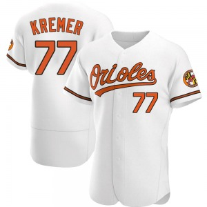 Men's Baltimore Orioles Dean Kremer Authentic White Home Jersey