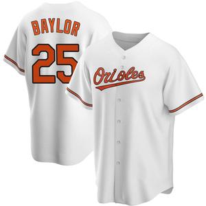 Men's Baltimore Orioles Don Baylor Replica White Home Jersey