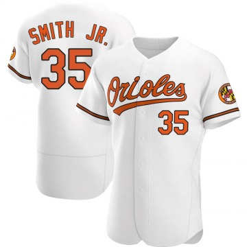Men's Baltimore Orioles Dwight Smith Jr. Authentic White Home Jersey