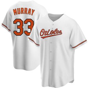 Men's Baltimore Orioles Eddie Murray Replica White Home Jersey