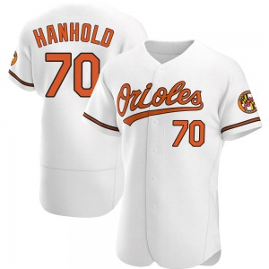 Men's Baltimore Orioles Eric Hanhold Authentic White Home Jersey