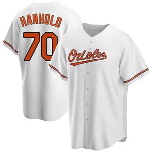 Men's Baltimore Orioles Eric Hanhold Replica White Home Jersey