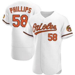 Men's Baltimore Orioles Evan Phillips Authentic White Home Jersey