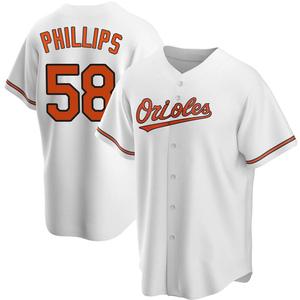 Men's Baltimore Orioles Evan Phillips Replica White Home Jersey