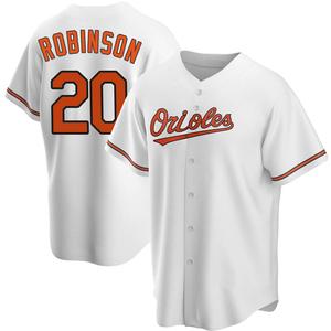 Men's Baltimore Orioles Frank Robinson Replica White Home Jersey