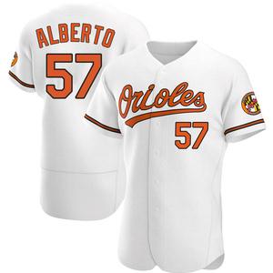 Men's Baltimore Orioles Hanser Alberto Authentic White Home Jersey