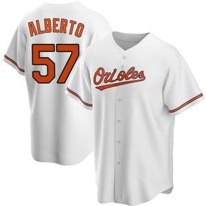 Men's Baltimore Orioles Hanser Alberto Replica White Home Jersey