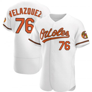 Men's Baltimore Orioles Hector Velazquez Authentic White Home Jersey