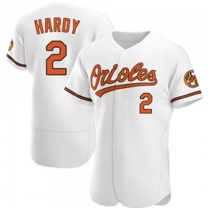 Men's Baltimore Orioles J.J. Hardy Authentic White Home Jersey
