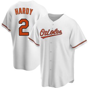 Men's Baltimore Orioles J.J. Hardy Replica White Home Jersey