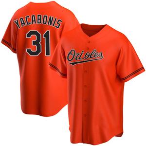 Men's Baltimore Orioles Jimmy Yacabonis Replica Orange Alternate Jersey