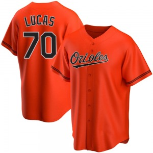 Men's Baltimore Orioles Josh Lucas Replica Orange Alternate Jersey