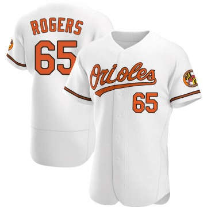 Men's Baltimore Orioles Josh Rogers Authentic White Home Jersey