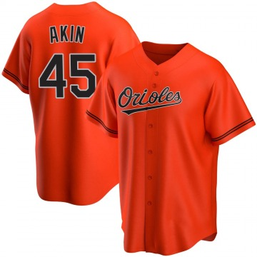 Men's Baltimore Orioles Keegan Akin Replica Orange Alternate Jersey