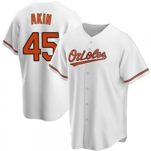 Men's Baltimore Orioles Keegan Akin Replica White Home Jersey