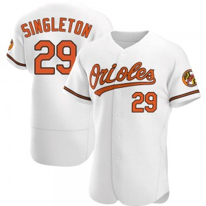 Men's Baltimore Orioles Ken Singleton Authentic White Home Jersey