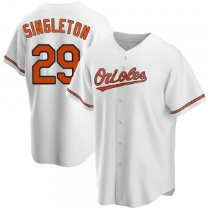 Men's Baltimore Orioles Ken Singleton Replica White Home Jersey