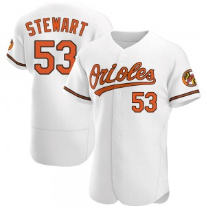 Men's Baltimore Orioles Kohl Stewart Authentic White Home Jersey
