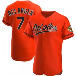 Men's Baltimore Orioles Mark Belanger Authentic Orange Alternate Jersey