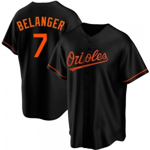 Men's Baltimore Orioles Mark Belanger Replica Black Alternate Jersey