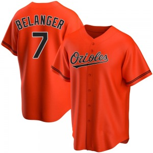 Men's Baltimore Orioles Mark Belanger Replica Orange Alternate Jersey