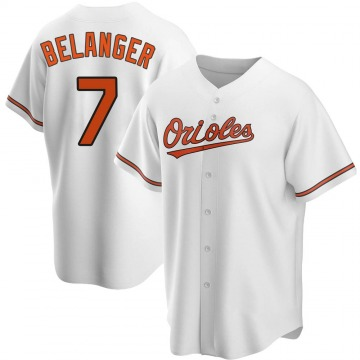 Men's Baltimore Orioles Mark Belanger Replica White Home Jersey