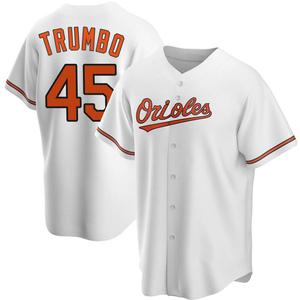 Men's Baltimore Orioles Mark Trumbo Replica White Home Jersey