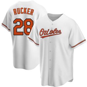 Men's Baltimore Orioles Michael Rucker Replica White Home Jersey