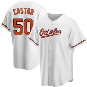Men's Baltimore Orioles Miguel Castro Replica White Home Jersey