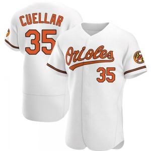Men's Baltimore Orioles Mike Cuellar Authentic White Home Jersey