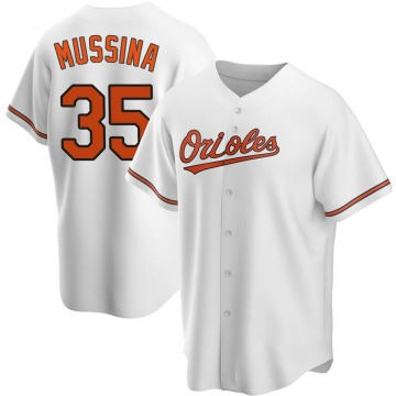 Men's Baltimore Orioles Mike Mussina Replica White Home Jersey